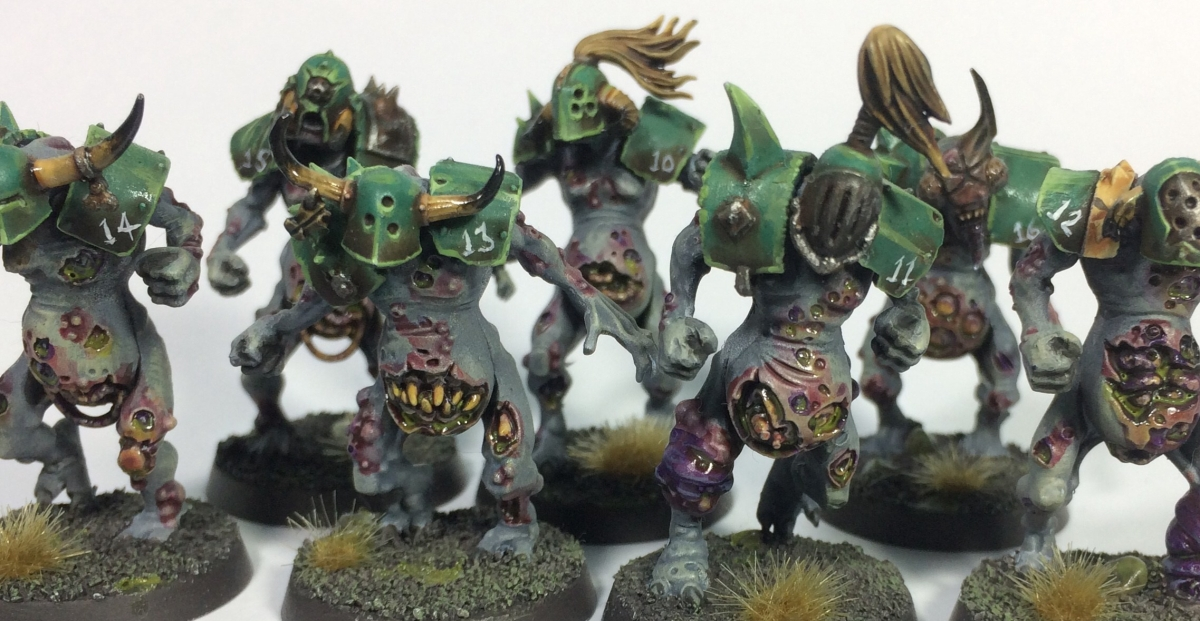 Bloodbowl Stinks - kitbash Nurgle Team (WIP)