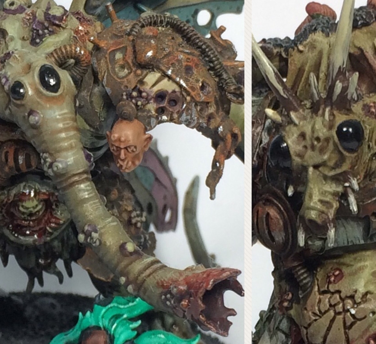 They've drunk all your milkshake - Two Nurgle daemon princes